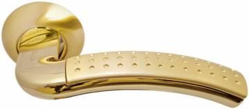 Ручка Палаццо мат.золото/золото с перфорацией