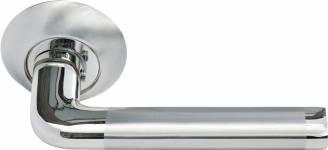Ручка Колонна бел. никель/хром