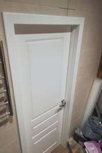 Фото пример работы, установка двери Честер
