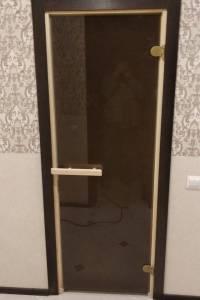 Фото пример работы, установка двери Аспен