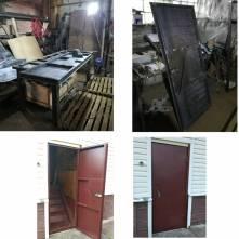 Фото пример работ по производству и установке металл дверей